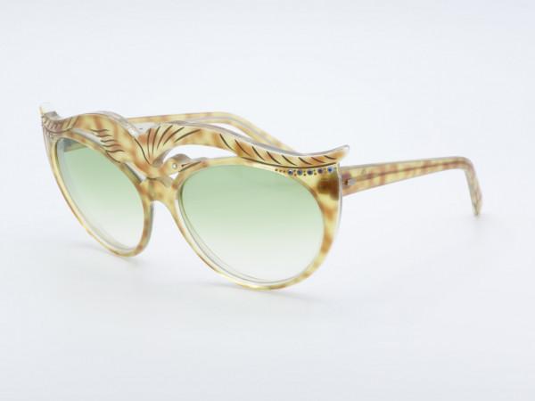 Paulette Guinet Cygnea Übergroße Damen Sonnenbrille Strass Schmetterling Frau 80er Jahre Brille