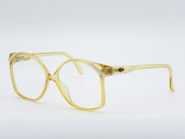 DIOR 2236 Gelb quadratische Vintage-Brille Optyl Rahmen GrauGlasses