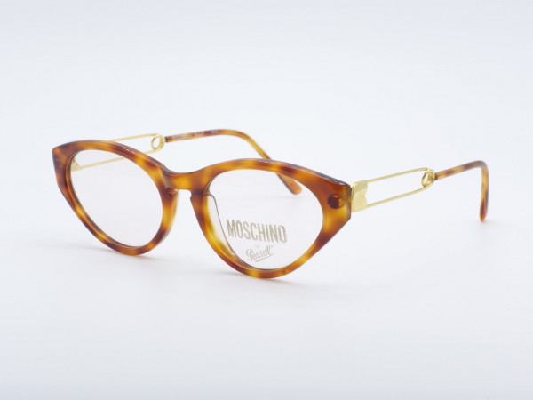 Persol Moschino Cateye women frame amber gold ladies glasses safety pin GrauGlasses