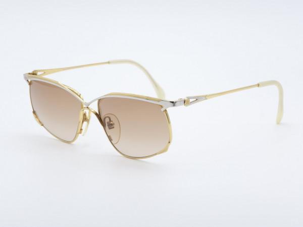 Roman Rothschild 1023 Gold Silver Ladies Sunglasses Women Metal Frame Switzerland GrauGlasses