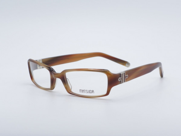 Matsuda Rectangular Ladies Plastic Glasses Luxury men Frame 10345 GrauGlasses