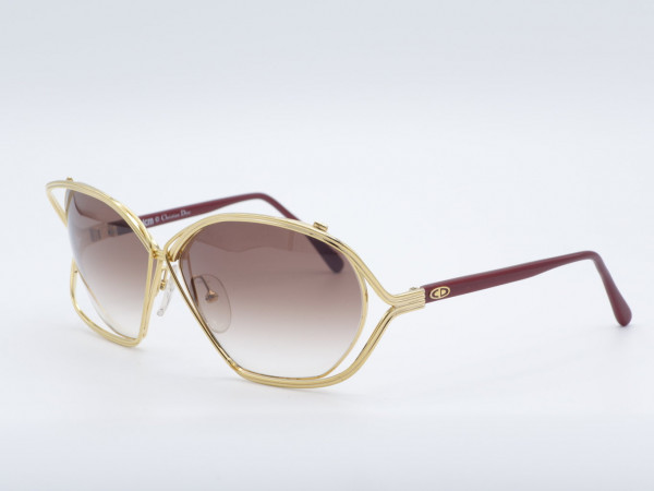DIOR 2499 Oversized Butterfly Frau goldenen Luxus Sonnenbrille Vintage Metall Damen Fassung GrauGlasses