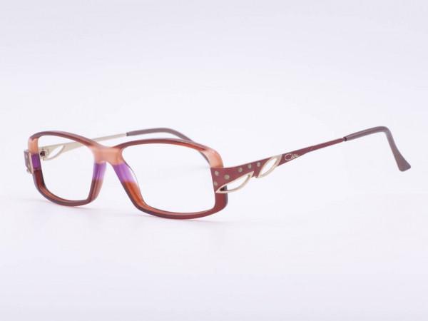 CAZAL Modell 323 pink lila violette Frauen Brille Kunststoff Rahmen mit Applikationen und Strass