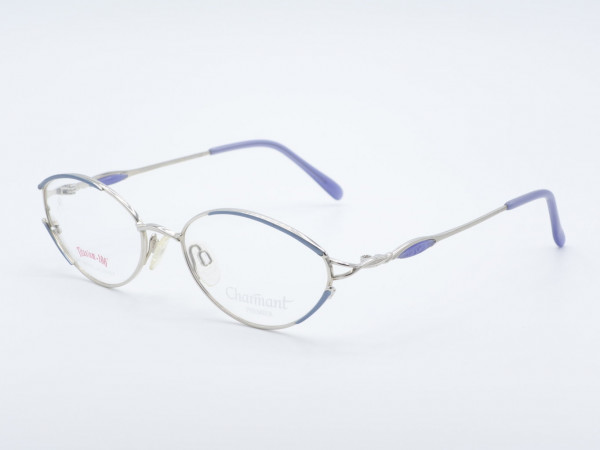 CHARMANT 7631 blue silver oval titan Ladies Glasses Woman Frame