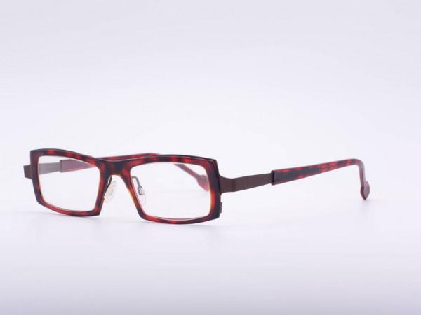 Theo Eyewear red rectangular women glasses plastic frame Belgium GrauGlasses