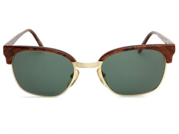 Brendel Panto Vintage Sunglasses 14 KT Gold Filled burl wood optics