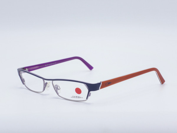 Cazal rechteckige Metall Damen Brille in dunkel Blau Silber Lila Orange Conecept GrauGlasses
