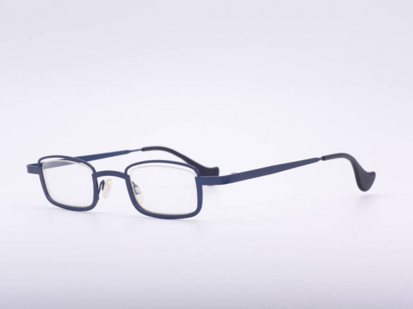 Theo Eyewear Blue Metal Glasses Square Women Frame Belgium GrauGlasses