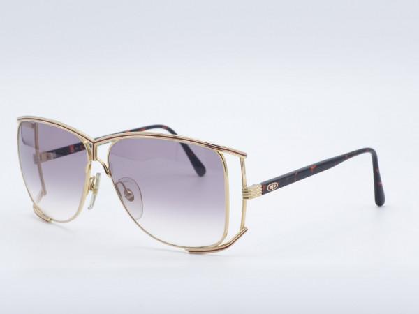 Christian Dior 2688 luxury sunglasses Golden Butterfly Oversized Metal Frame GrauGlasses