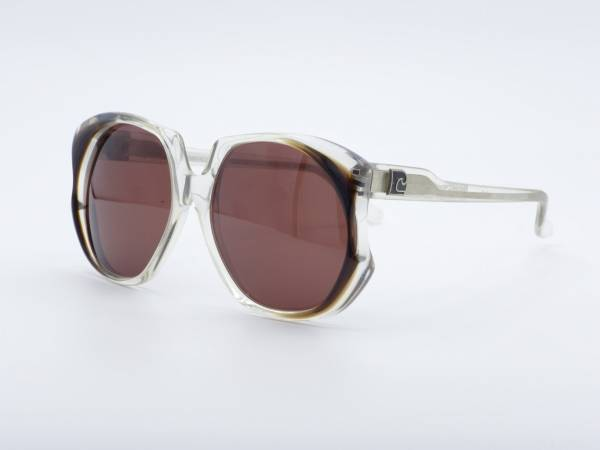 Pierre Cardin 216 Butterfly transparent Oversized Woman 80s Sunglasses Ladies Glasses GrauGlasses