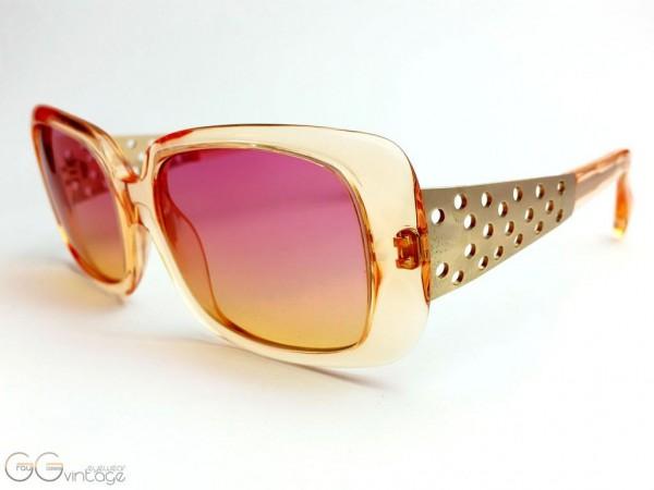 alain mikli Modell A0144-06 Oversized pink / orange Sonnenbrille