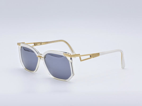 CAZAL 333 West Germany 80er Sonnenbrille Kunststoff rahmen Graue Gläser Neu Ungetragen GrauGlasses