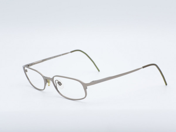 Giorgio Armani silver gray rectangular modern men model 1044 reading glasses GrauGlasses