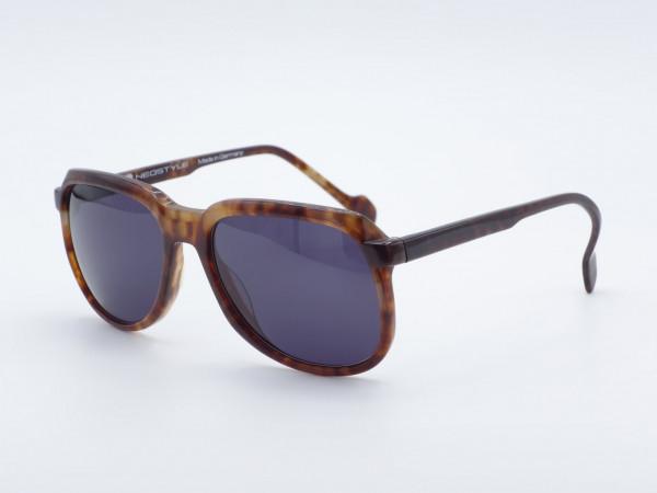 NEOSTYLE Cockpit Quadratische braune Herren Sonnenbrille 80er Brille GrauGlasses