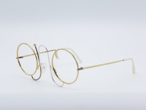 Casanova CMR1 Round Unique Rare golden woman Glasses metal frame Vintage Luxury GrauGlasses