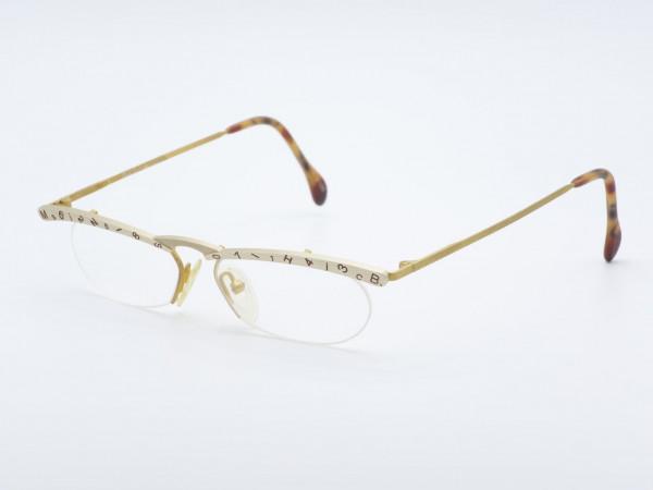 MilliB Mikado Half rim Handmade Ladies Glasses Letter Top Woman Frame