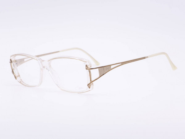 Cazal Transparent Gold Bronze Vintage Women Frame Model 318 Plastic Ladies Glasses GrauGlassses