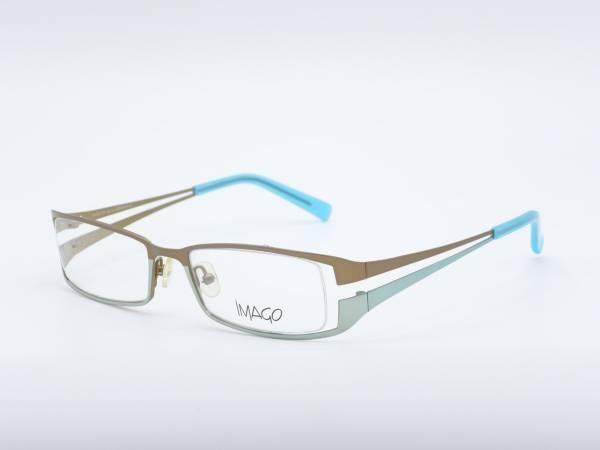IMAGO Wilwarin Rechteck Modern Frauen Brillen Metallrahmen Silber Blau GrauGlasses
