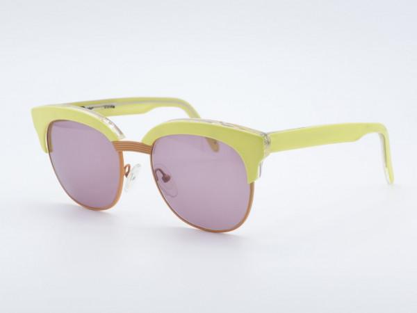 Schau Schau Yellow Panto Shape Woman Sunglasses Purple lenses