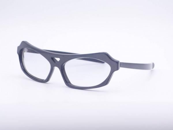 Anne Marie Beretta gray shimmering men's glasses from 1986, solid frame
