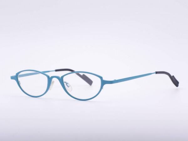 Theo Eyewear blaue ovale Damen Brille Belgien GrauGlasses