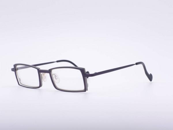 Theo Eyewear dark brown rectangular unisex glasses metal frame Belgium GrauGlasses