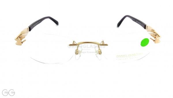 Swarovski glasses, frameless 24kt gold plated with etui. Model S149 Color 6053.