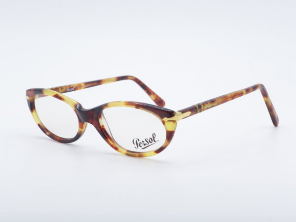 Persol Ratti 317 oval amber color ladies glasses 90s leopard pattern frame