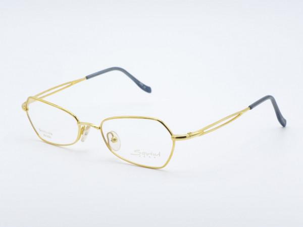 Savini 31140 Golddouble Oval Ladies Glasses Golden Woman Metal Frame Italy