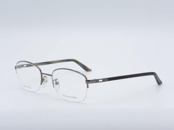 GUCCI Halb Rand Luxus Herren Brille Metall Fassung Modell GG1742 GrauGlasses