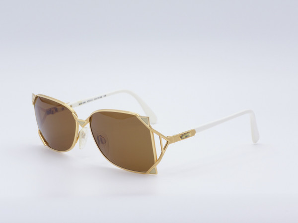 CAZAL 236 Ladies 80s Sunglasses Golden Frame West Germany Brown Sun Lenses Unique Vintage GrauGlasses