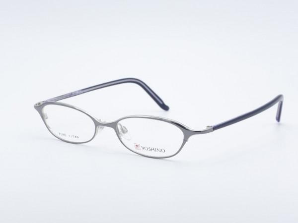 Yoshino oval titanium men women glasses silver purple light metal frame GrauGlasses
