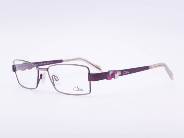 CAZAL model 515 rectangular colored ladies glasses frame in silver violet pink