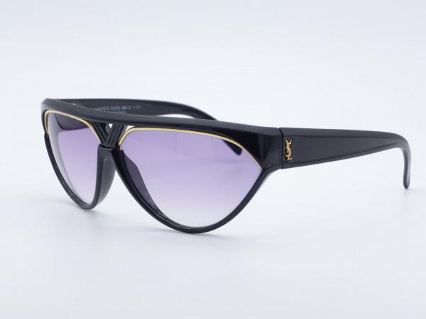 Yves Saint Laurent 8961Champs Elysees YSL Black Cateye Woman Sunglasses purple Lenses