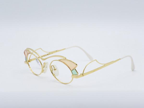 Casanova LC1 Tiffany Stil goldene einzigartige seltene Metall Fassung Frau Brille GrauGlasses