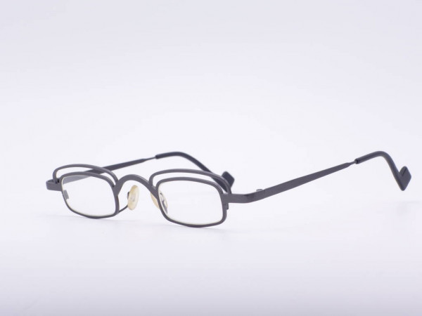 Theo Eyewear light glasses Rectangular metal gray eyebrow model Younger Belgium GrauGlasses