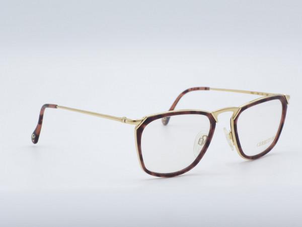 CERRUTI men's glasses model 1501 Brown Amber Gold Plated GrauGlasses