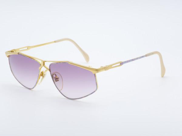 Roman Rothschild 1021 Ladies Golden Sunglasses Violett Gradient Lenses Switzerland GrauGlasses