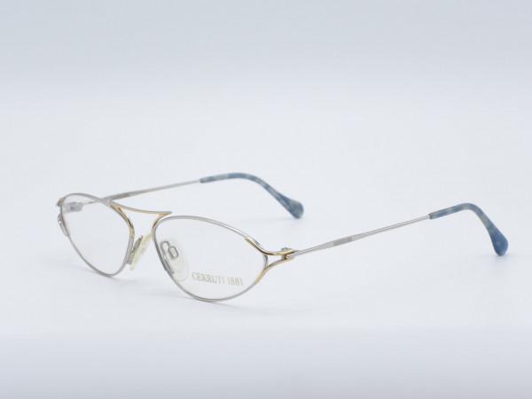 CERRUTI oval ladies glasses metal luxury women frame model 1824 GrauGlasses