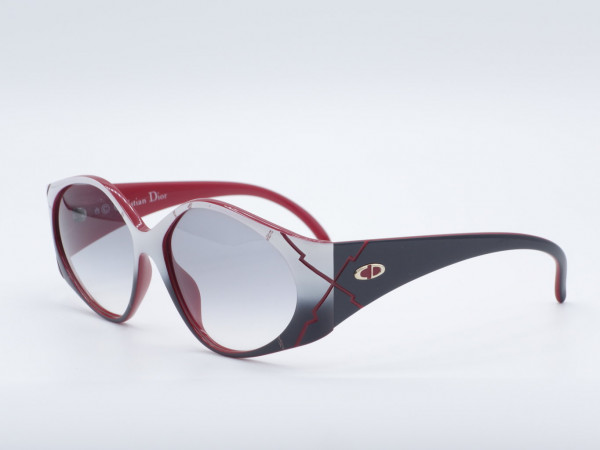 DIOR 2348 Oversized Special color Sunglasses Woman red white frame Optyl GrauGlasses