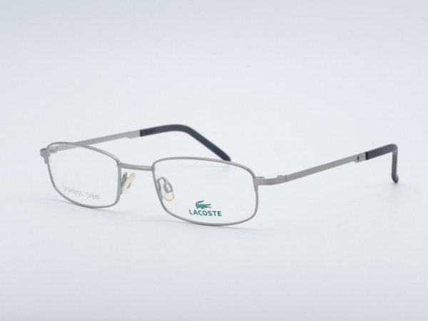 LACOSTE Silver Metal Men Frame Stainless Steel Rectangle Glasses 7429