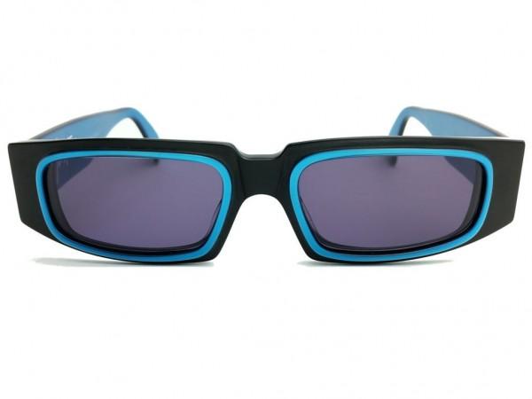 Montana Vintage Rectangle Sunglasses Matt Black Model 5598 Color 043