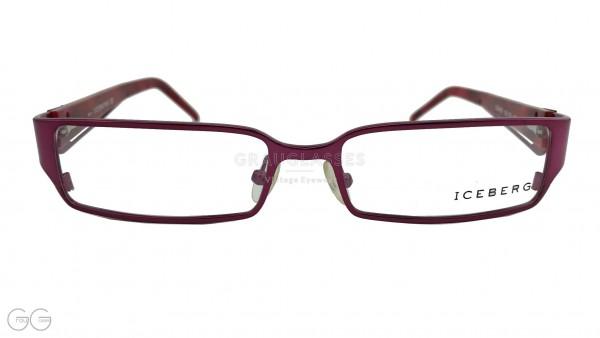 ICEBERG Vintage Glasses model 04103 Color in dark-red/violet