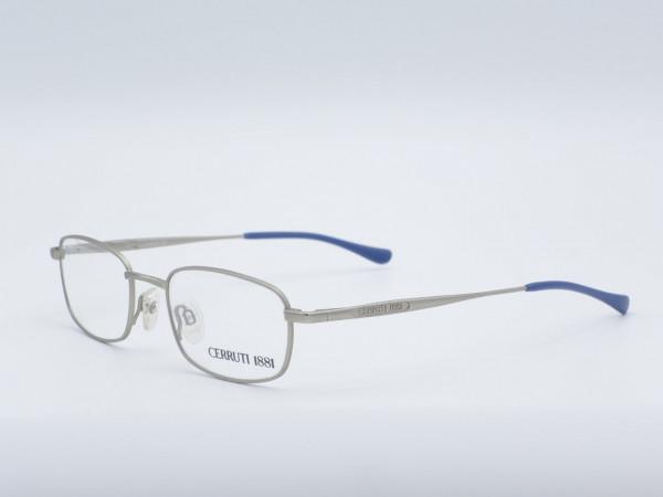 CERRUTI 1881 silver rectangular metal men glasses model 5249 GrauGlasses