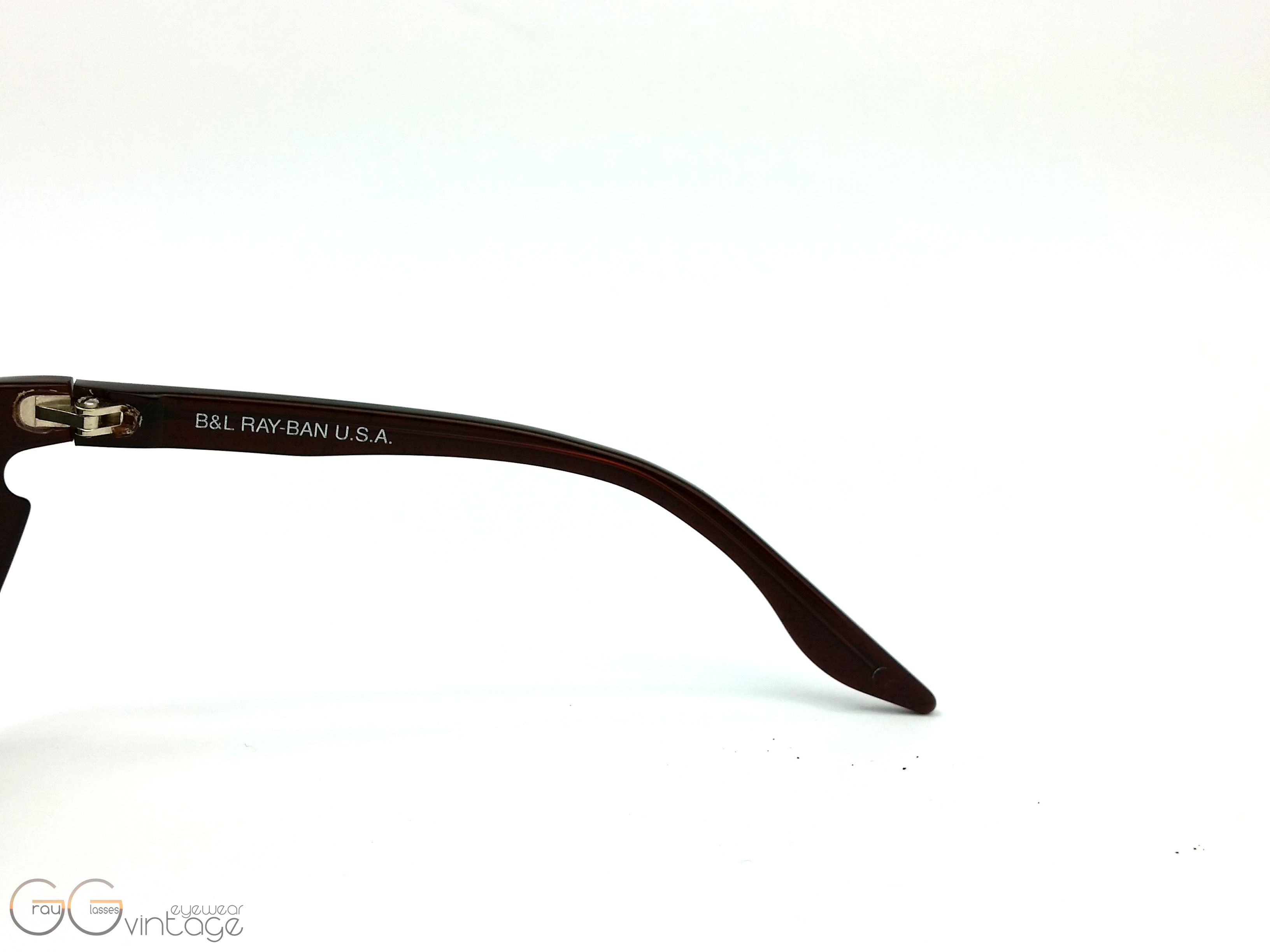 91f9cc2748 Ray-Ban B   L U.S.A Model 2354 Side Street gold mirror skyline ...
