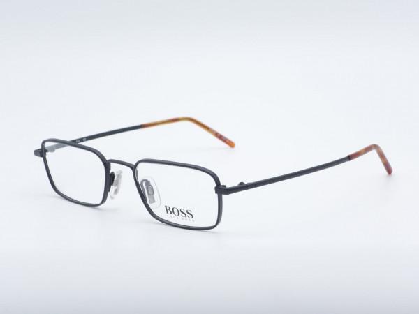 BOSS HUGO 1505 Rectangle Luxury men Glasses Men Metal Black frame GrauGlasses