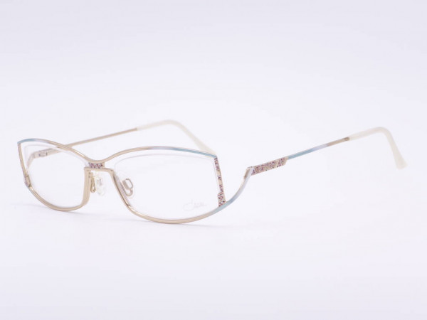 Luxury glasses Cazal ladies model 468 rectangular metal frame for women in mint green golden gradient GrauGlassses