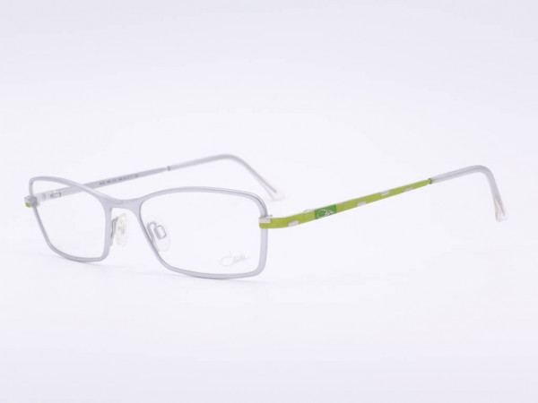 Timeless silver Cazal women glasses model 485 rectangular ladies frame green temples GrauGlassses
