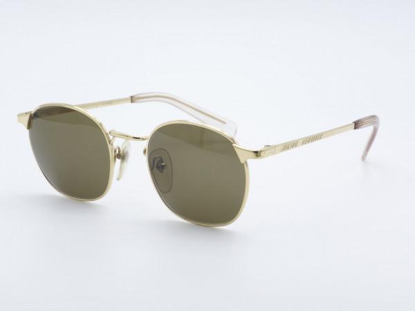 JPG Gaultier 57 Panto Goldene Sonnenbrille Damen Herren Metallrahmen GrauGlasses