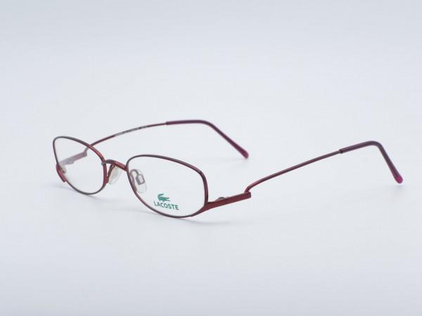 LACOSTE Lila Dünne Frauen Metall Brille GrauGlasses Rahmen Lesebrille 8029